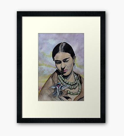 huitzapochtli and the frida Framed Print