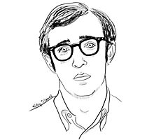 Young Woody Allen Photographic Print