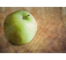Little Green Apple Photographic Print