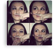 I moustache you a question Canvas Print