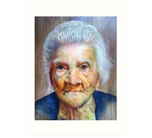 "follow up to ""Grandmother"" (97 yrs old) Art Print"