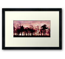 Burning Wood Framed Print