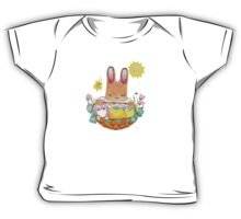 little girl bunny and basket Baby Tee