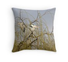 Nesting Herons Throw Pillow