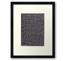 """""""Dictionary 30"""" (hypochondria-inaccessible) Framed Print"""