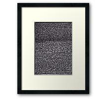 """Dictionary 34"" (kidney stone-latitudinarian) Framed Print"