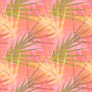 Pink Fronds Wallpaper by Ginny Schmidt