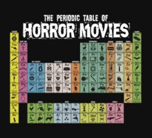 Periodic Table of Horror Movies Baby Tee