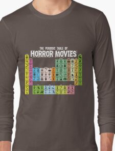 Periodic Table of Horror Movies Long Sleeve T-Shirt