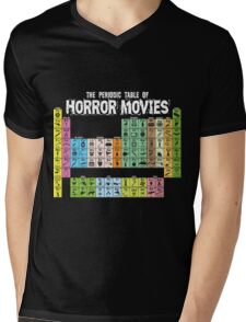 Periodic Table of Horror Movies Mens V-Neck T-Shirt