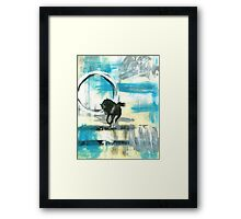 Black Horse Framed Print