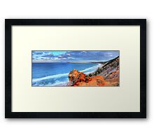 Rainbow Beach - Double Island Point Framed Print