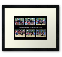 Bucking Bronc Collage Framed Print