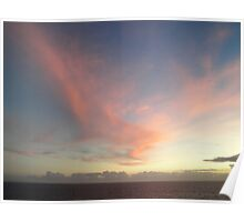 Caribbean Sunset 1 Poster