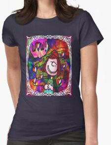 the bus came by .... Womens Fitted T-Shirt