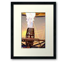 Fire Robot  Framed Print