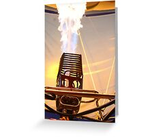 Fire Robot  Greeting Card