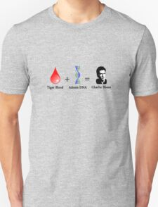 Tiger Blood + Adonis DNA = Charlie Sheen T-Shirt