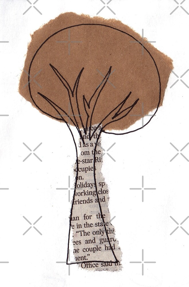 Collage tree by Jonesyinc