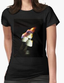 Flaming Marshmallows Womens Fitted T-Shirt