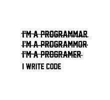 I Write Code Photographic Print