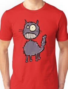 the cat is easily scared Unisex T-Shirt
