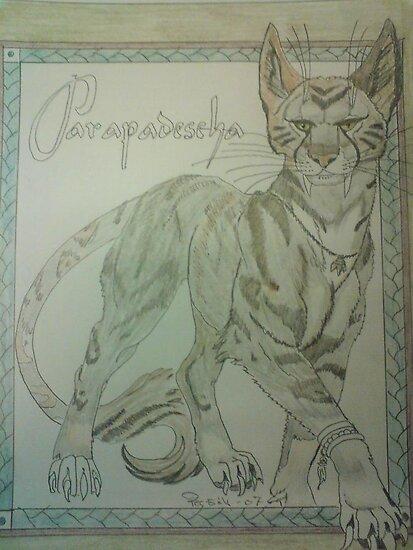 the egypten cat by fernandozart