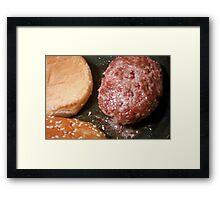 Just a burger Framed Print