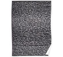 """Dictionary 46"" (patrimony-peroration) Poster"