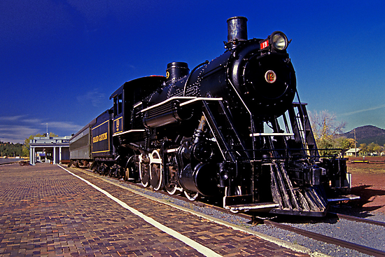 Grand Canyon Railroad Sitting at the Station by ©  Paul W. Faust