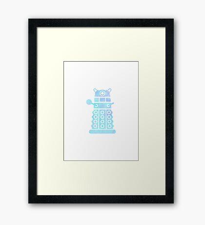 dalek blue pastel version Framed Print