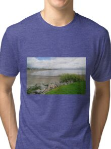 Criccieth bay, North Wales Tri-blend T-Shirt