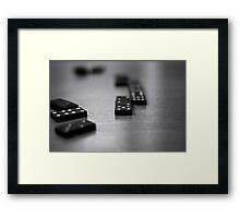 Domino Effect Framed Print