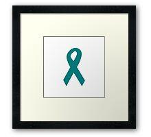 Teal Ribbon Framed Print