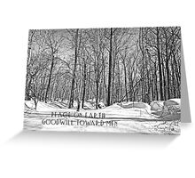 Christmas Greeting Card - Peace on Earth - Snowy Woods Greeting Card