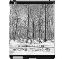 Christmas Greeting Card - Peace on Earth - Snowy Woods iPad Case/Skin