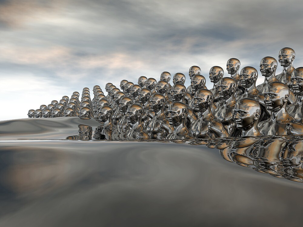 Wave Of Humanity by Hugh Fathers
