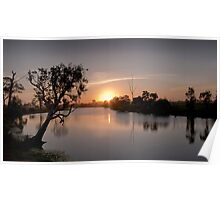 Sunset on the Beautiful Hedlow Creek Poster