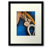 Sea themed still life Framed Print