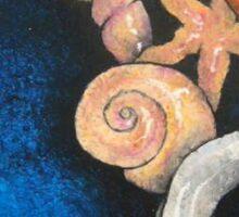 Sea themed still life Sticker