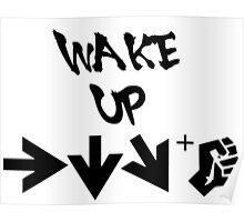 STREET FIGHTER - WAKE UP SHORYUKEN - BLACK Poster