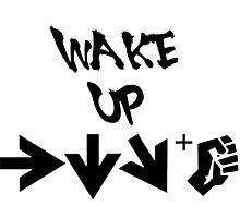 STREET FIGHTER - WAKE UP SHORYUKEN - BLACK Photographic Print