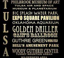 Tulsa Oklahoma Famous Landmarks by Patricia Lintner