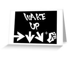 STREET FIGHTER - WAKE UP SHORYUKEN - WHITE Greeting Card