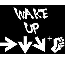 STREET FIGHTER - WAKE UP SHORYUKEN - WHITE Photographic Print