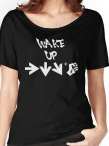 STREET FIGHTER - WAKE UP SHORYUKEN - WHITE Women's Relaxed Fit T-Shirt
