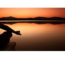 lake yoga! Photographic Print