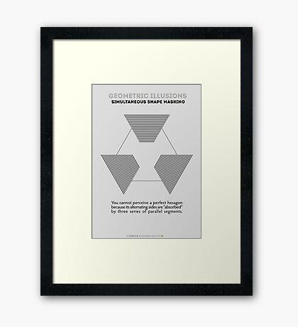 Psychology of Shapes Framed Print