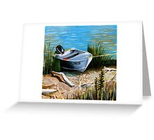 """Fishing Boat in The Reeds"" Greeting Card"