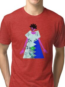 Bantu Knots and a Blue Dress Tri-blend T-Shirt